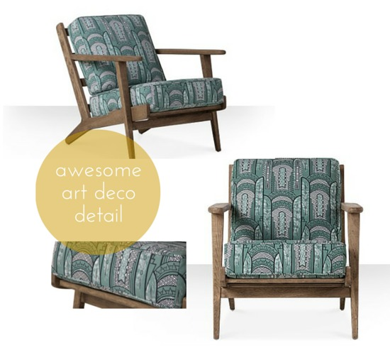 7 things swoon editions art deco chair