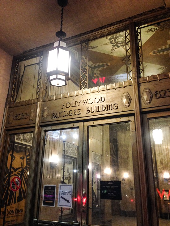 Pantages Theatre doorway
