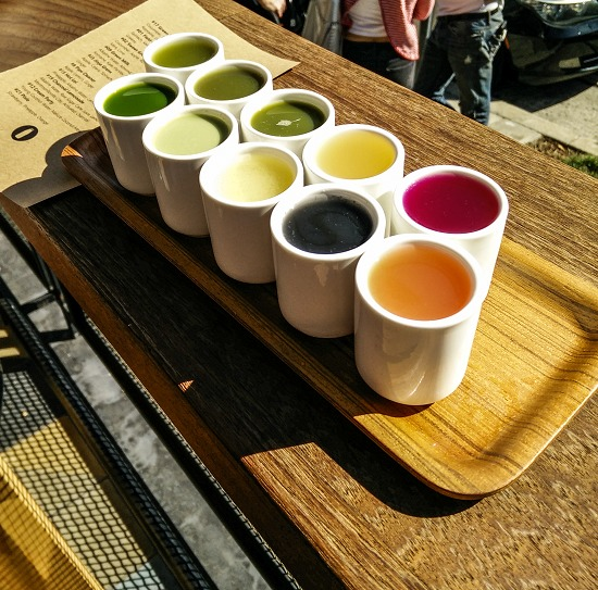 a verve coffee juice flight