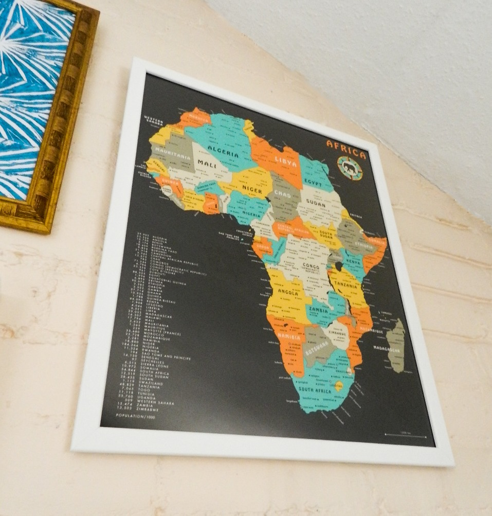 posterlounge africa map