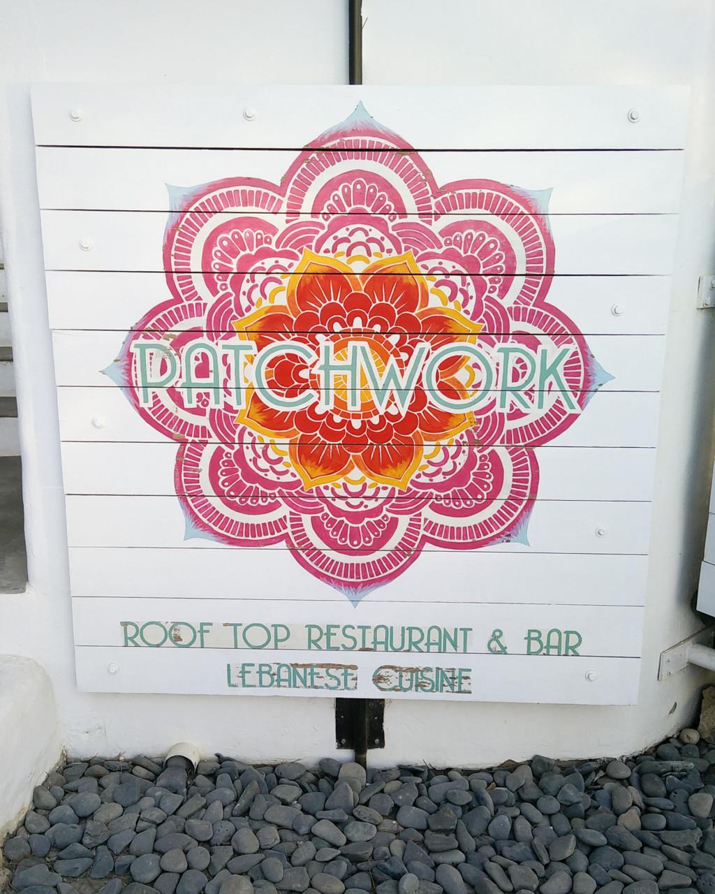 Patchwork restaurant Ibiza sign